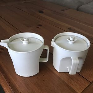 Tupperware vintage sugar and creamer